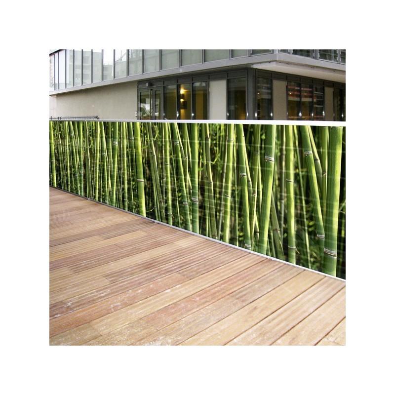 Brise vue toile bambous x 3 - Brise vue jardin toile ...