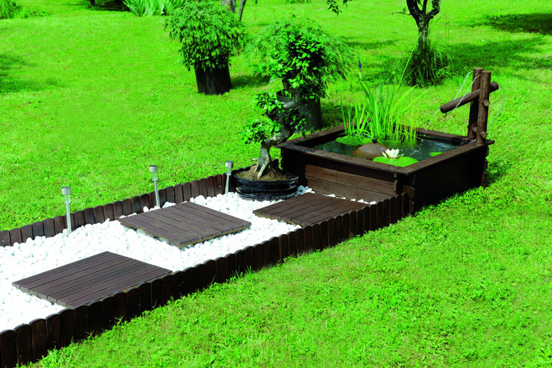 bassin de jardin en bois. Black Bedroom Furniture Sets. Home Design Ideas