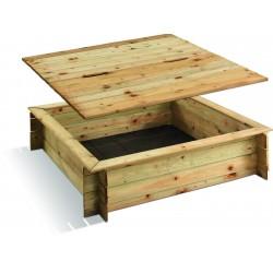Bac à sable bois carré