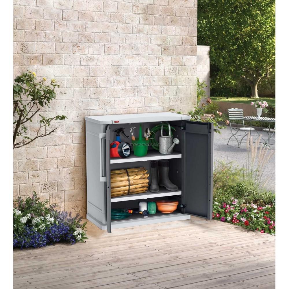 Armoire basse de jardin armoire basse r sine aspect for Armoire basse jardin