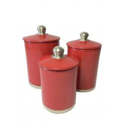Accessoire sdb rond ensemble rouge