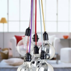 Suspension color e for Suspension grosse ampoule design