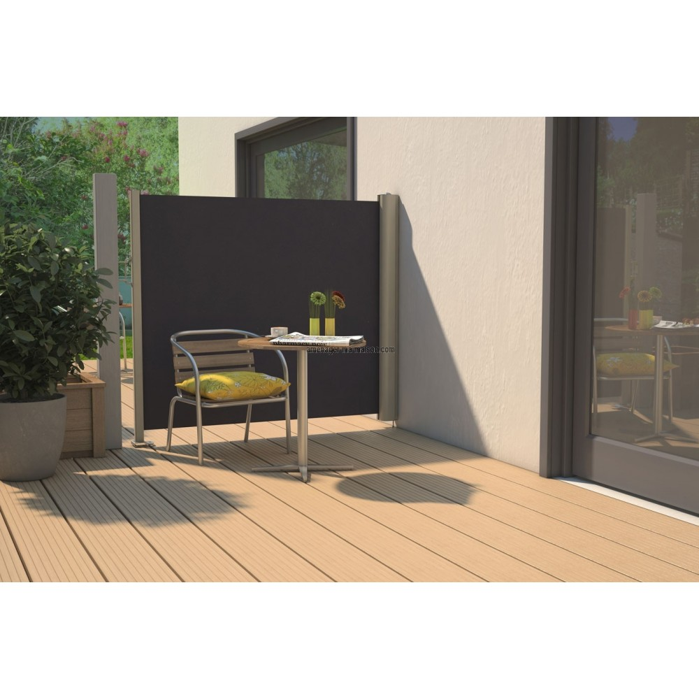 une terrasse en bois brise vue en bois pour balcon ou. Black Bedroom Furniture Sets. Home Design Ideas