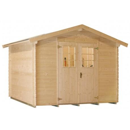 Abri de jardin bois ext rieur 4 51 m2 for Abri bois exterieur