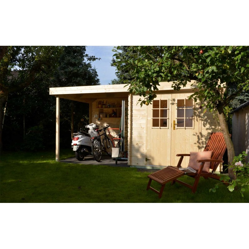 chalet de jardin avec pergola pictures to pin on pinterest. Black Bedroom Furniture Sets. Home Design Ideas