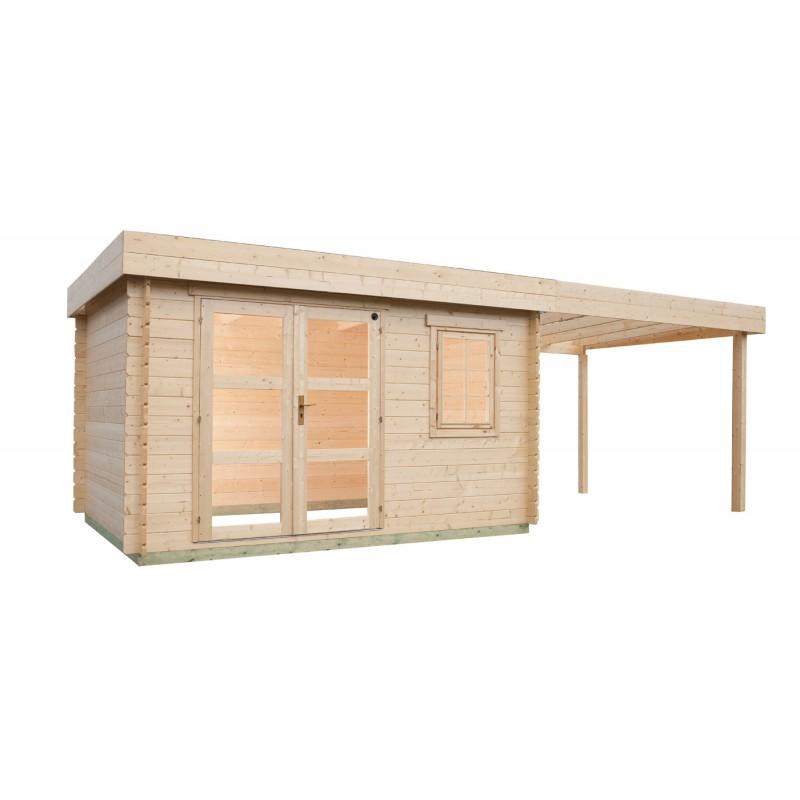 Abri de jardin 8 15 m2 et pergola ouverte for Abri de jardin 8 m2