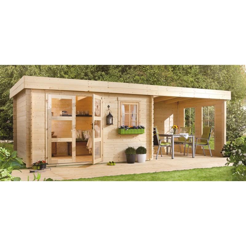 Maison jardin bois cabane jardin rangement abri de jardin ossature bois bruyeres 150400m - Abri jardin bois caen ...