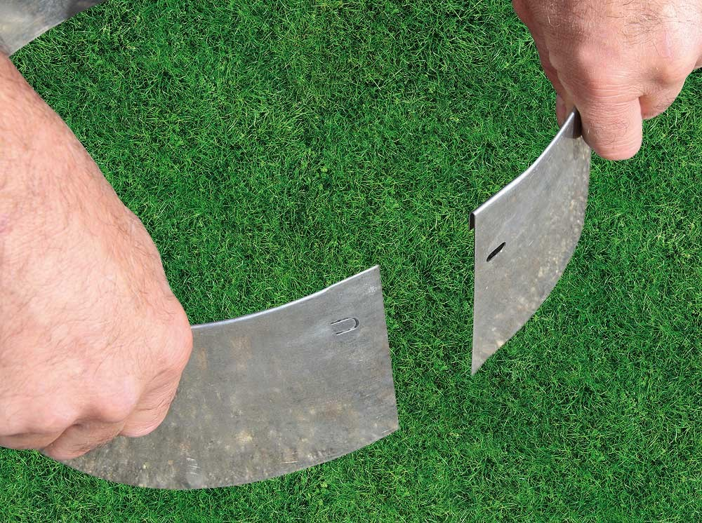 Bordure m tal circulaire flexible d 20 for Bordure metal pour jardin