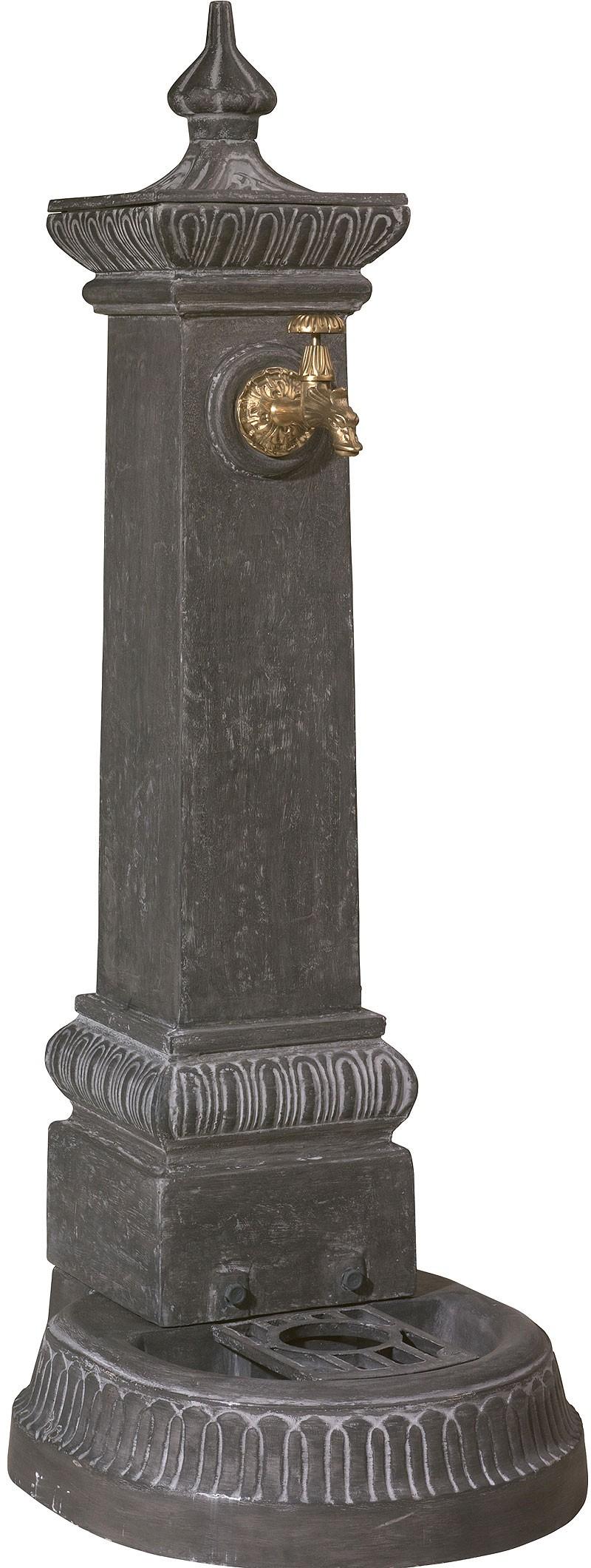Fontaine fonte st roch grise - Fontaine exterieure fonte ...