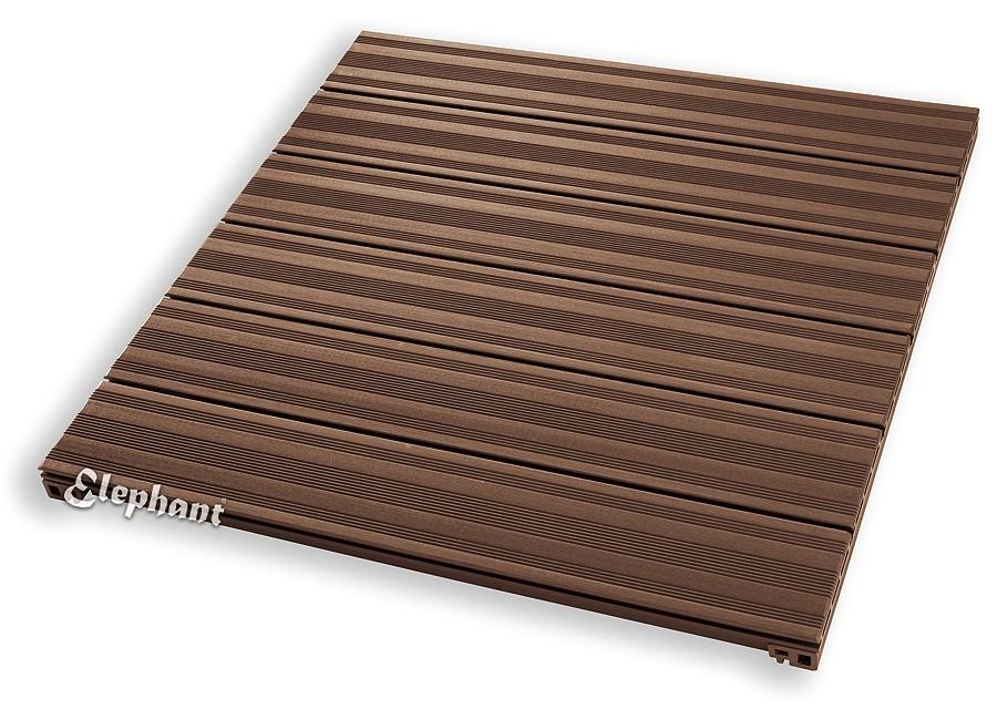dalle terrasse composite 90 p 50 mm brun. Black Bedroom Furniture Sets. Home Design Ideas