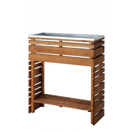 jardini re bois rectangle sur pieds ligne z 80. Black Bedroom Furniture Sets. Home Design Ideas