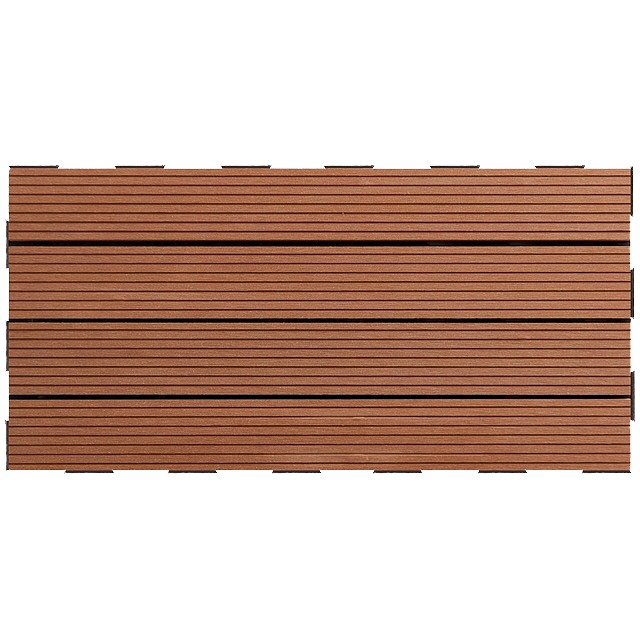 dalle terrasse clipsable composite brun 30 x 60. Black Bedroom Furniture Sets. Home Design Ideas
