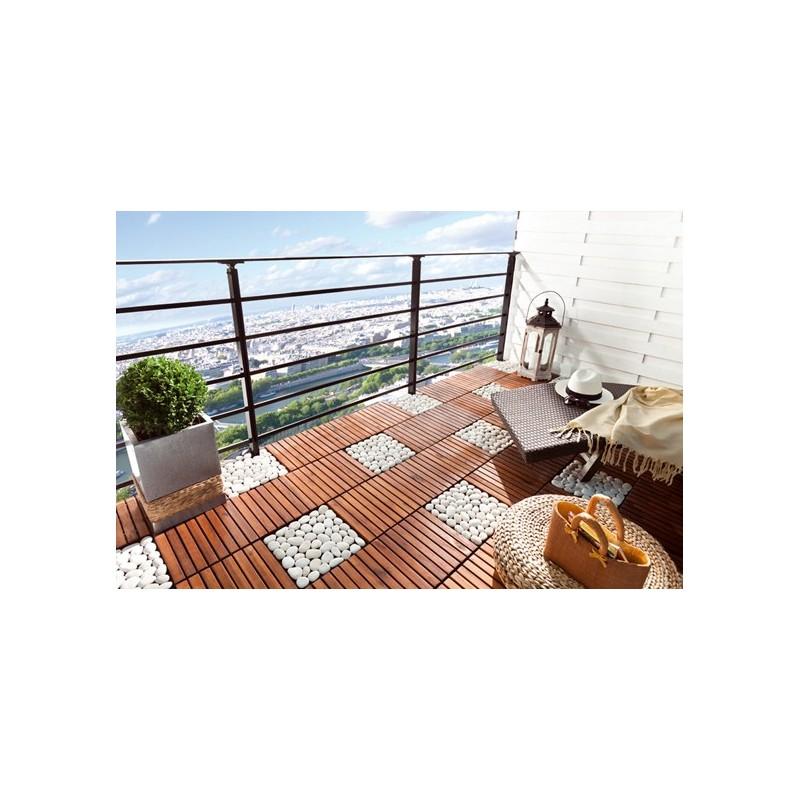 Dalle terrasse galets - Dalle clipsable balcon ...