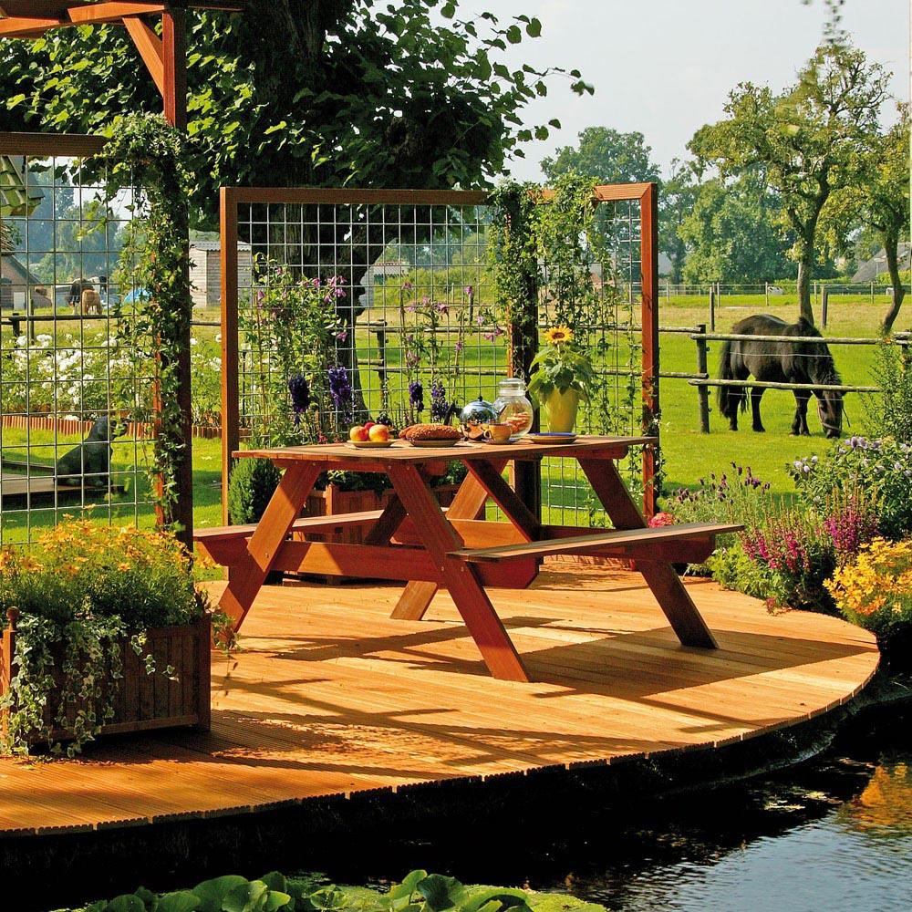 Lame terrasse bois exotique 9 cm de large Terrasse en situation