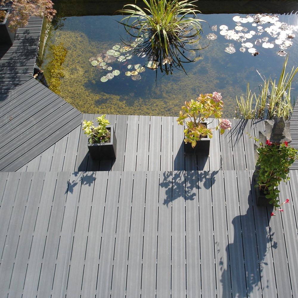 Terrasse composite gris pas cher - Lame composite grise ...