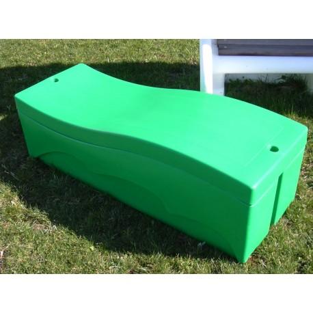 coffre de rangement 250 l vert. Black Bedroom Furniture Sets. Home Design Ideas