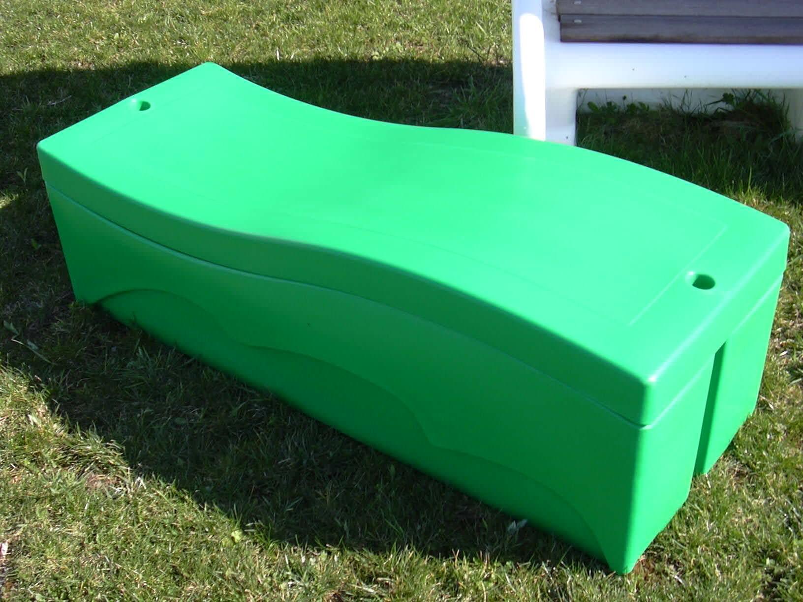 Coffre de rangement 250 l vert - Abri de jardin vert poitiers ...