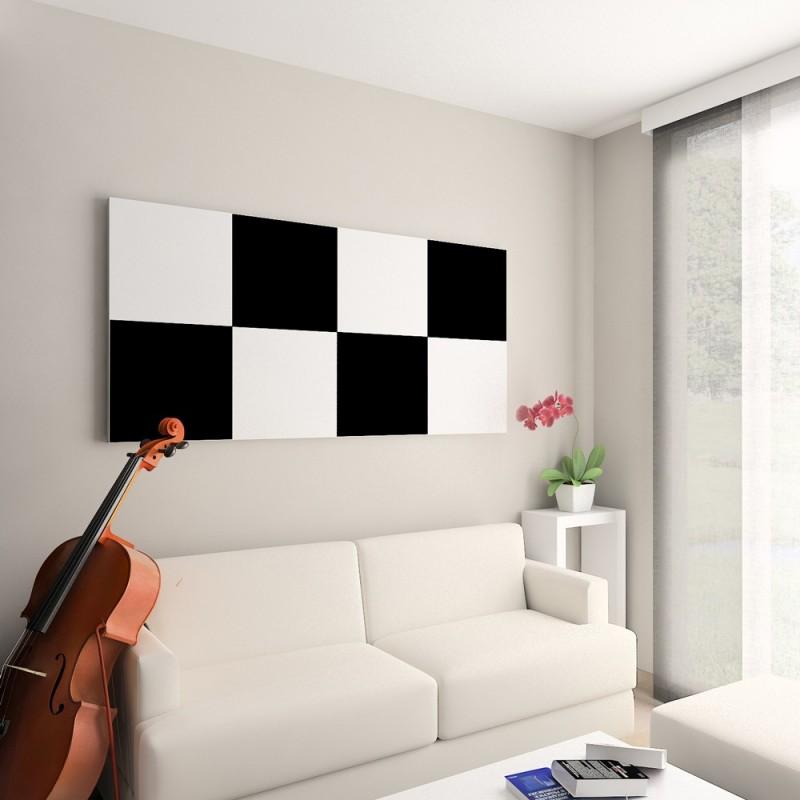 Panneau mural serastone noir et blanc - Panneau decoration murale ...