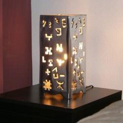 Lampe à poser design carrée en aluminium