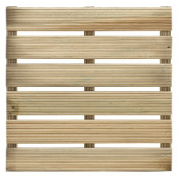 dalle bois pin 40 x 40