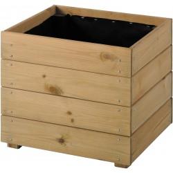 Jardinière en bois carrée Essencia 40 x 40 x 39,5 cm