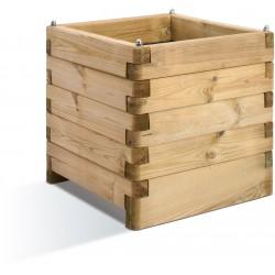 Jardinière en bois carrée Oléa 50 x 50 x 50 cm