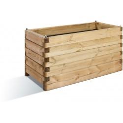 Jardinière en bois rectangulaire Oléa 100 x 50 x 50 cm