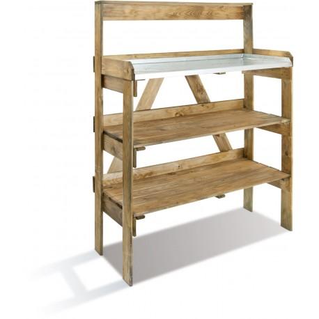Table De Préparation Bois et Zinc 3 Niveaux