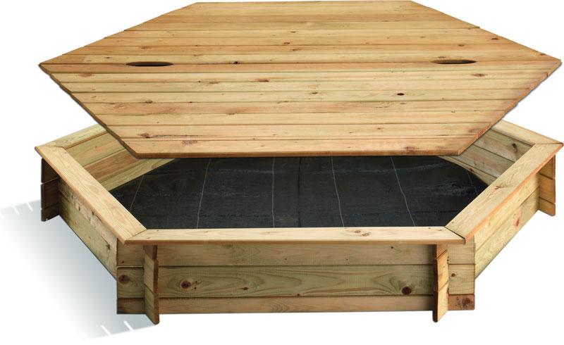 bac sable hexagonal. Black Bedroom Furniture Sets. Home Design Ideas