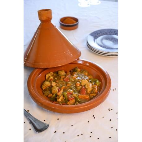 Plat tajine de cuisson en terre cuite 21,5 cm
