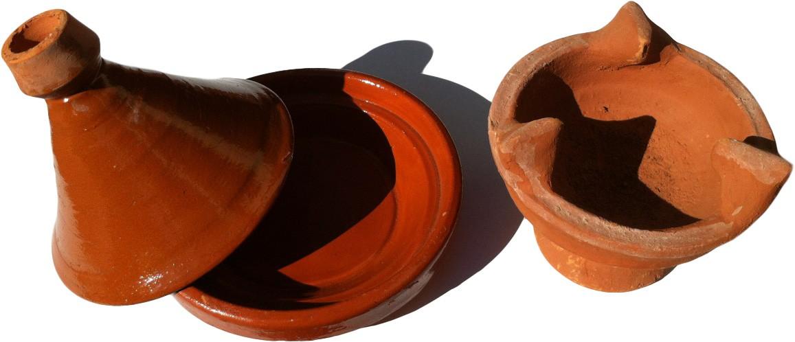 Petit plat tajine terre cuite et son brasero - Plat a tajine en terre cuite ...