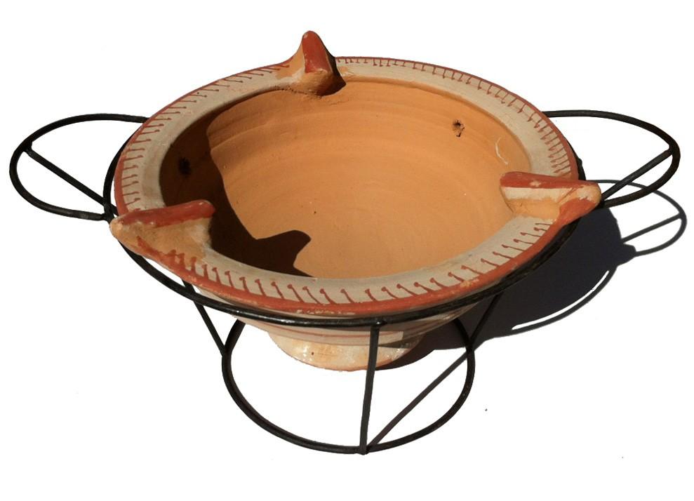 Plat tajine terre cuite diam 29 et son brasero cm - Plat a tajine en terre cuite ...