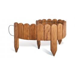 Bordure de jardin en bois chêne Lasurée 114 x 1,4 x 30 cm