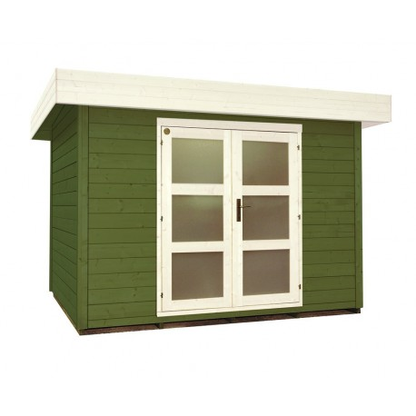 Abri de jardin bois 7 m2 d'épaisseur 28 mm, de 2,95 x 2,40 m