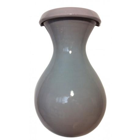 Vase céramique à mur sans anse 42 cm gris