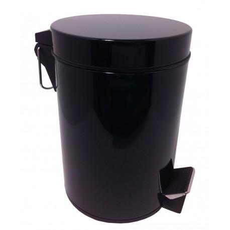 Poubelle de salle de bain noire