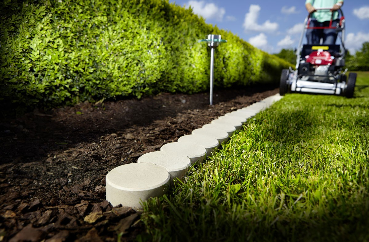 Bordure de jardin en PVC bio bordure beige 200 x 10 x 5 cm