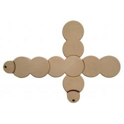Bordure plastique connecteur beige en forme de L