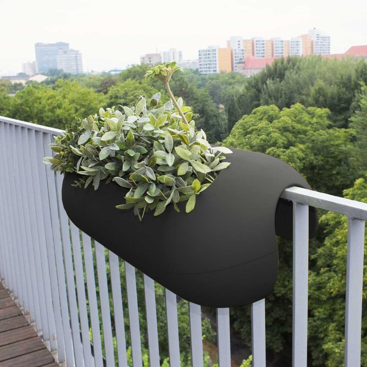 jardini re steckling balconismo noire. Black Bedroom Furniture Sets. Home Design Ideas