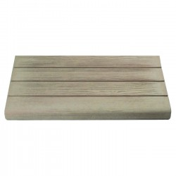 Margelle en pierre reconstituée droite aspect bois 50 x 29,5 x 3,5 cm