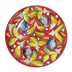 Assiette plate en céramique Ø : 25 cm rouge