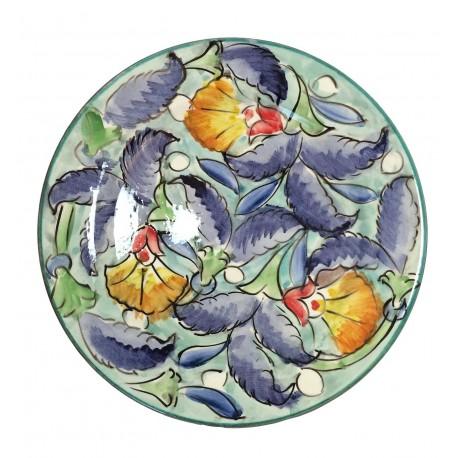 Assiette plate en céramique Ø : 25 cm bleu clair