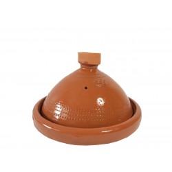 Plat tajine terre cuite vernissé, diam 27 à 31 cm