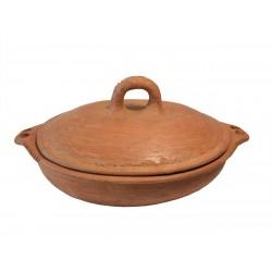 Plat tajine terre cuite tagra ovale