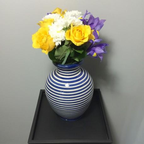 Vase céramique 23 cm avec des fleurs