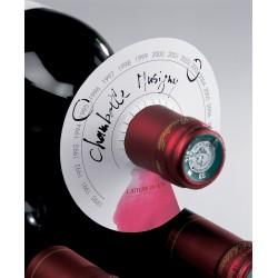 étiquette pour stockage bouteille de vin