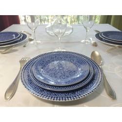 Assiette porcelaine bleue