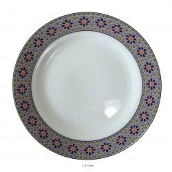 Assiette plate ronde en porcelaine Ø : 17,5 cm blanche