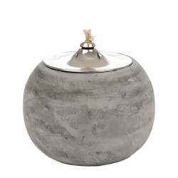Lampe à huile grise