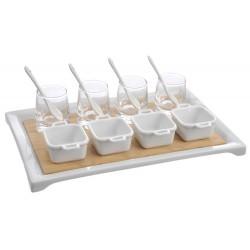 Verrines apéritif 13 pièces blanc